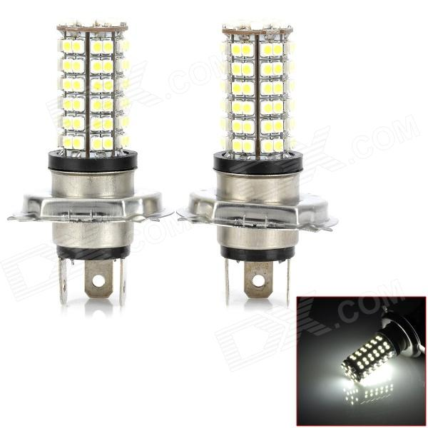 SENCART H4 5.5W 384lm 6500K 96-3528 SMD LED White Light Car Front Foglight (12~24V / 2 PCS)