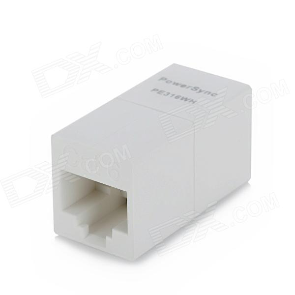 PowerSync PE-316WH CAT.6 RJ45 8P8C Female to Female Adapter for Network Cable - White db9 female to rj45 female modular adapter