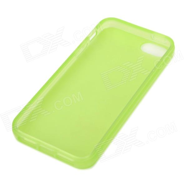 Protective Silicone Back Case for Iphone 5 - Green