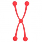 NILLKIN Protective Large Mouth Silicone Ball Cover for iPad 4 + More - Red
