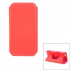 Protective Swivel 360 Degree Rotating PU Leather Case for iPhone 5 - Red
