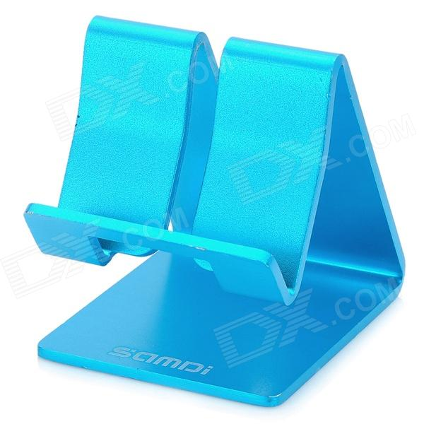 все цены на  SAMDI Aluminum Alloy Desk Table Stand Holder Support for Iphone 5 - Blue  онлайн