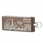 PNY Pairs Urban Style Pattern Rotational USB 2.0 Flash Drive - Black + White (16GB)