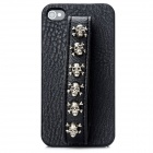Cool Skull Style Protective Back Case for Iphone 4 / 4S - Black (Skull Size-S)