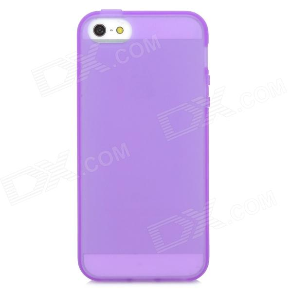 Protective Silicone Back Case for Iphone 5 - Purple stylish bubble pattern protective silicone abs back case front frame case for iphone 4 4s