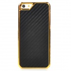 Woven Pattern Protective Plastic Back Case for Iphone 5 - Black
