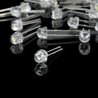 4 Different LED Light Emitting Diodes - Transparent White + Silver (40-Piece / Pack)