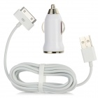 Car Charger Adapter + USB to 30-Pin Data / Charging Cable for iPhone 4 / 4S / iPad 2 / New iPad