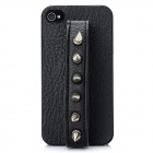 Cool Rivet Studded Style Protective Back Case for Iphone 4 / 4S - Black