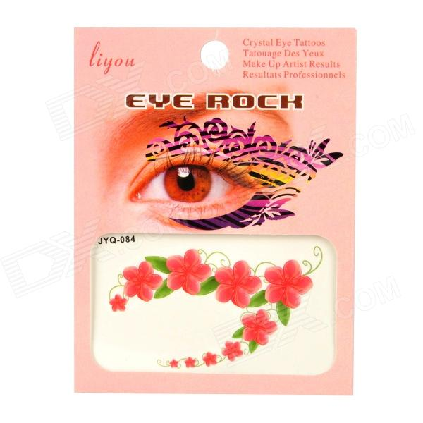 JYQ-084 Flower and Leaves Pattern Eye Shadow Stickers Set - Red + Green (Pair) куртка утепленная rolf kassel rolf kassel mp002xm0w7a5