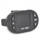 "DVG C600 Mini 1.5 ""TFT 5.0MP Grand Angle voiture DVR Camcorder w / 12-LED IR de vision nocturne - Noir"