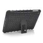 Protective Detachable Silicone + Plastic Back Case w/ Stand Holder for Ipad MINI - Black
