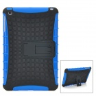Protective Detachable Silicone + Plastic Case for Ipad MINI w/ Stand Holder - Blue + Black