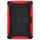 Protective Silicone + Plastic Back Case Stand for Ipad MINI - Red + Black