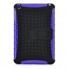 Protective Silicone + Plastic Back Case Stand for Ipad MINI - Purple + Black