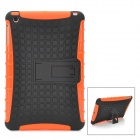 Protective Detachable Silicone + Plastic Back Case w/ Stand Holder for Ipad MINI - Orange + Black