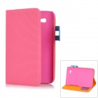 Football Pattern Protective PU Leather Case for Samsung Galaxy Tab 2 P3100 - Deep Pink
