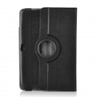 Protective Swivel 360 Degree Rotating PU Leather Case w/ Smart Cover for Google Nexus 10 - Black