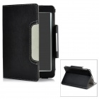 Lichee Pattern Protective PU Leather Case w/ Magnetic Closure for Ipad MINI - Black