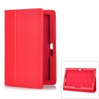 Lychee Pattern Protective PU Leather Case for ASUS VivoTab RT TF600T 10.1 - Red