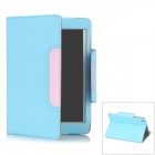 Litchi Grain Protective PU Leather Case for Ipad MINI - Blue