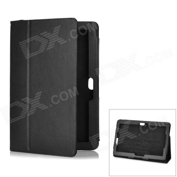 Lychee Pattern Protective PU Leather Case for ASUS VivoTab RT TF600T 10.1 - Black asus rt ac51u black