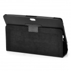 Lychee Pattern Protective PU Leather Case for ASUS VivoTab RT TF600T 10.1 - Black
