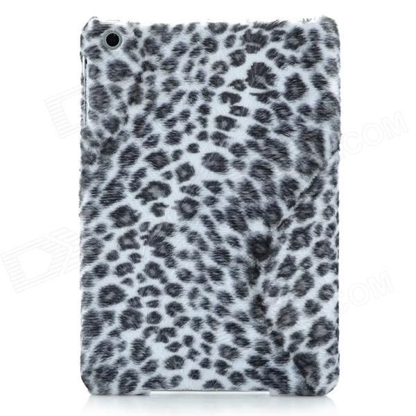 Leopard Print Pattern Protective Plastic Hard Back Case for Ipad MINI - Grey + White