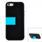 BASEUS RBAPIPH5-01 Protective Plastic Back Cover Case w/ HD Screen Guard Film for Iphone 5 - Black