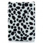 Plush Black Dot Protective Plastic Case for Ipad MINI - White