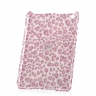 Plush Leopard Pattern Protective Plastic Case for Ipad MINI - Pink