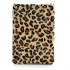 Plush Leopard Pattern Protective Plastic Case for Ipad MINI - Brown