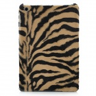 Plush Tiger Skin Pattern Protective Plastic Case - Yellow