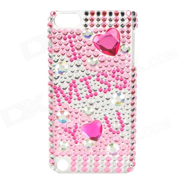 Protective CrystalPlastic Back Case for Ipod Touch 5 - Pink + Silver