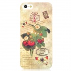 Cute Strawberry Pattern Protective Plastic Glow-in-the-Dark Back Case for Iphone 5 - Beige + Green