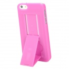 Protective Plastic Hard Back Case Stand for Iphone 5 - Deep Pink