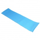 Outdoor Moisture-Proof Egg Slot Dual-Layer Design EVA Picnic Blanket Camping Mat Pad - Blue + Black