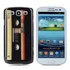 Retro Cassette Tape Style Protective Plastic Back Case for Samsung Galaxy S3 i9300 - Black