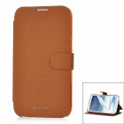 Newtons Protective PU Leather Flip-Open Case for Samsung N7100 - Brown
