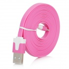 USB to 8Pin Lightning Charging & Data Transmission Flat Cable - Pink (200cm)