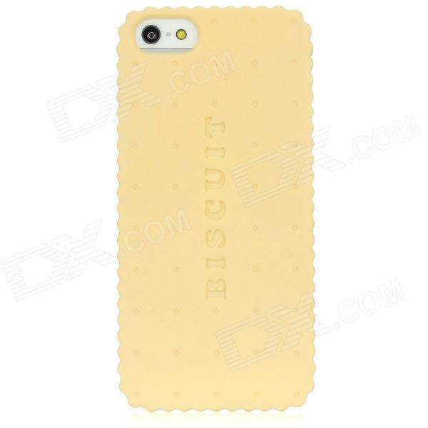Newtons I5 Biscuit Style Protective Plastic Back Cover Case for Iphone 5 - Yellow