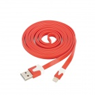 Micro USB to 8Pin Lightning Charging & Data Transmission Flat Cable - Red (2m)