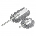 Washable Interior + Exterior Fiber Duster Car Mops - Grey (2 PCS)