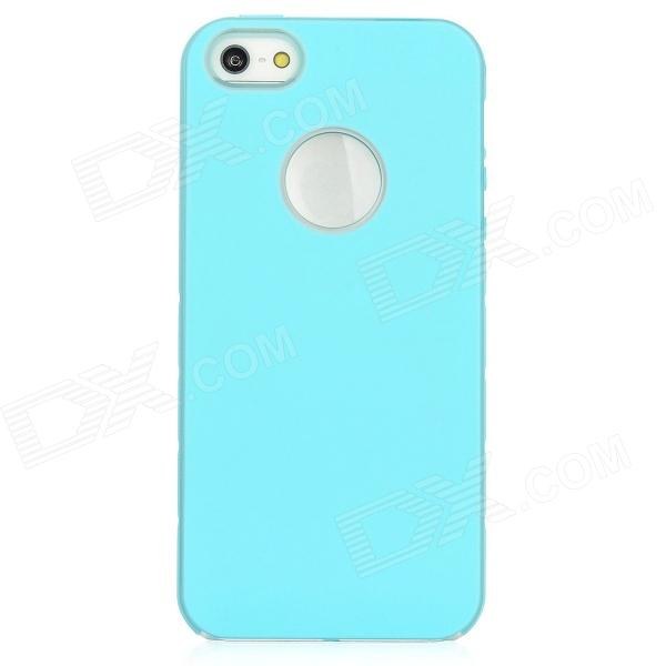 Newtons I5 Protective Plastic Case w/ Back Magnifying Lens for Iphone 5 - Blue