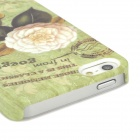 Bump Flower Pattern Glow in the Dark Protective Plastic Hard Back Case for iPhone 5 - Green