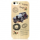 Retro Car Pattern Protective Plastic Glow-in-the-Dark Back Case for Iphone 5 - Khaki
