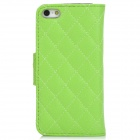 Protective Check Pattern PU Case for Iphone 5 - Green