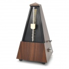 Retro Tower Vintage Shape Plastic Mechanical Metronome - Black + Wooden