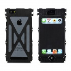 Protective Top Flip-Open Aluminum Alloy Case for iPhone 5 - Black