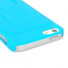 Protective Plastic Hard Back Case w/ Bracket for Iphone 5 - Blue